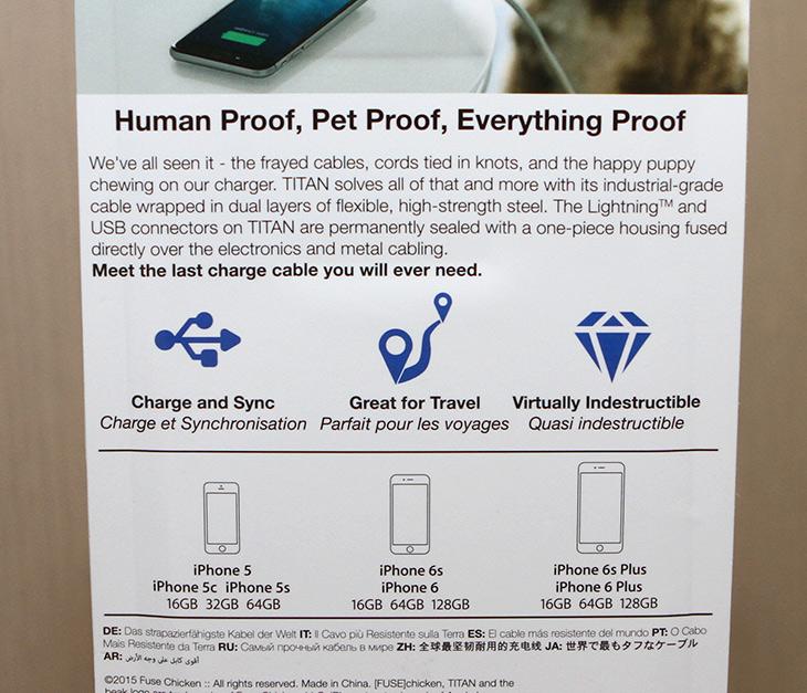 Fuse Chicken, Titan, 엄청나게, 튼튼한, 아이폰, 케이블,IT,IT 제품리뷰,어떤 기능에 특화된 케이블을 소개할 것입니다. 엄청 단단한 케이블 인데요. Fuse Chicken Titan 엄청나게 튼튼한 아이폰 케이블을 소개합니다. 이름에서 알 수 있듯 엄청 단단하고 질기고 튼튼한 케이블 입니다. 구부러질 수 있는 금속으로된 튜브를 입힌 케이블 인데요. Fuse Chicken Titan은 아이폰7이나 또는 그 이하 애플 디스바이스에서 라이트닝 단자가 있는 제품에는 모두 사용이 가능 합니다.