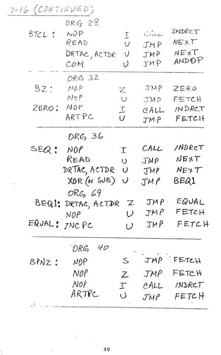 컴퓨터구조 연습문제, 모리스 마노 챕터7 48