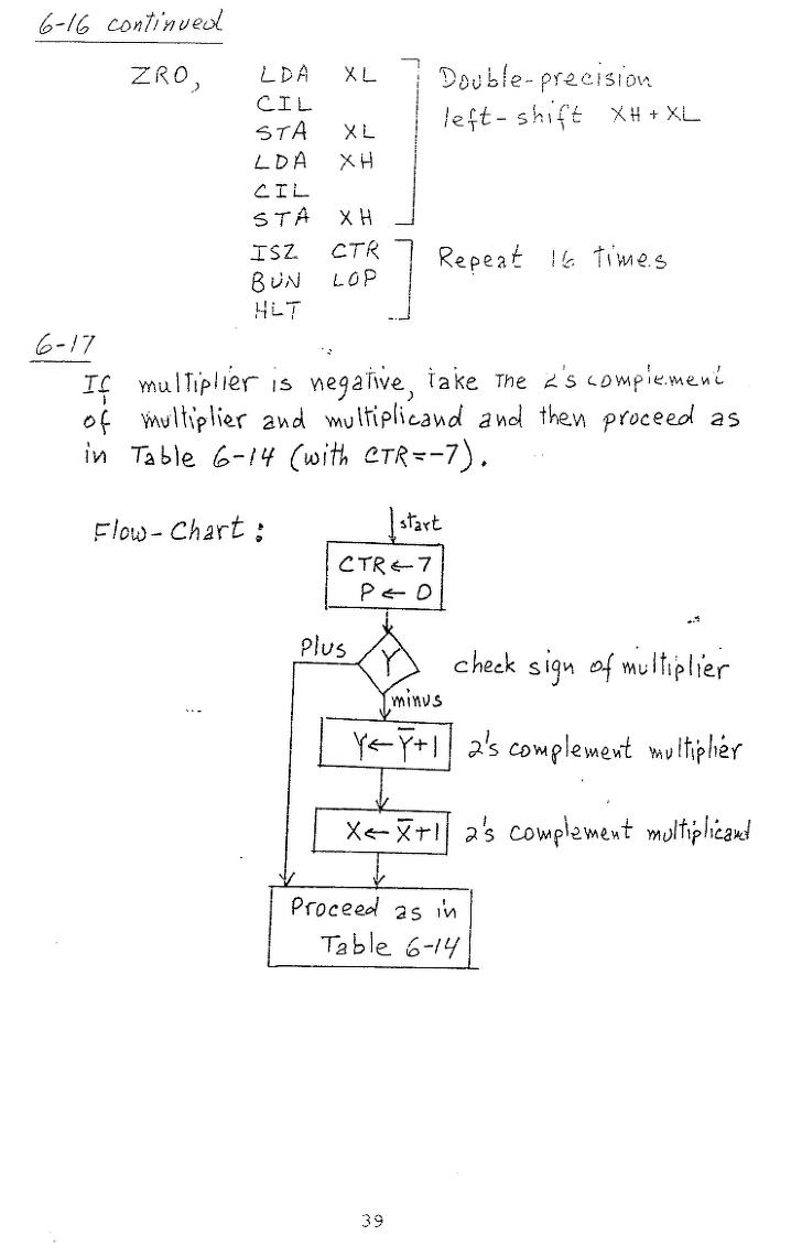 컴퓨터구조 연습문제, 모리스 마노 챕터6 39