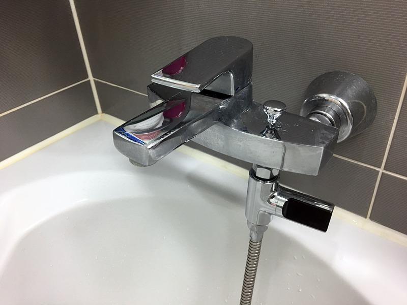 샤워기 온도계 설치