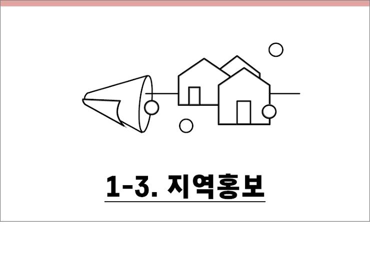 1-3. 지역홍보