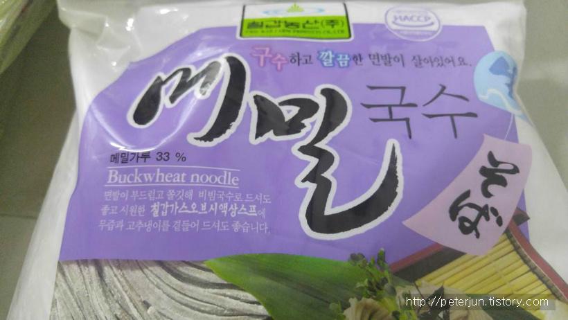칠갑농산 메밀국수