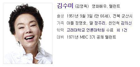 탤런트 김수미 프로필