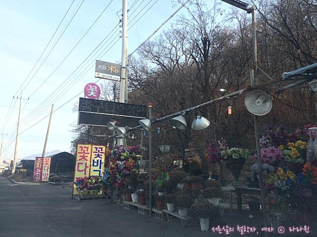 용미리 추모의숲 꽃집