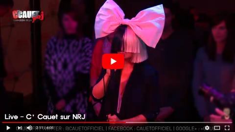 Sia chandelier sia chandelier live ccauet sur nrj aloadofball Choice Image