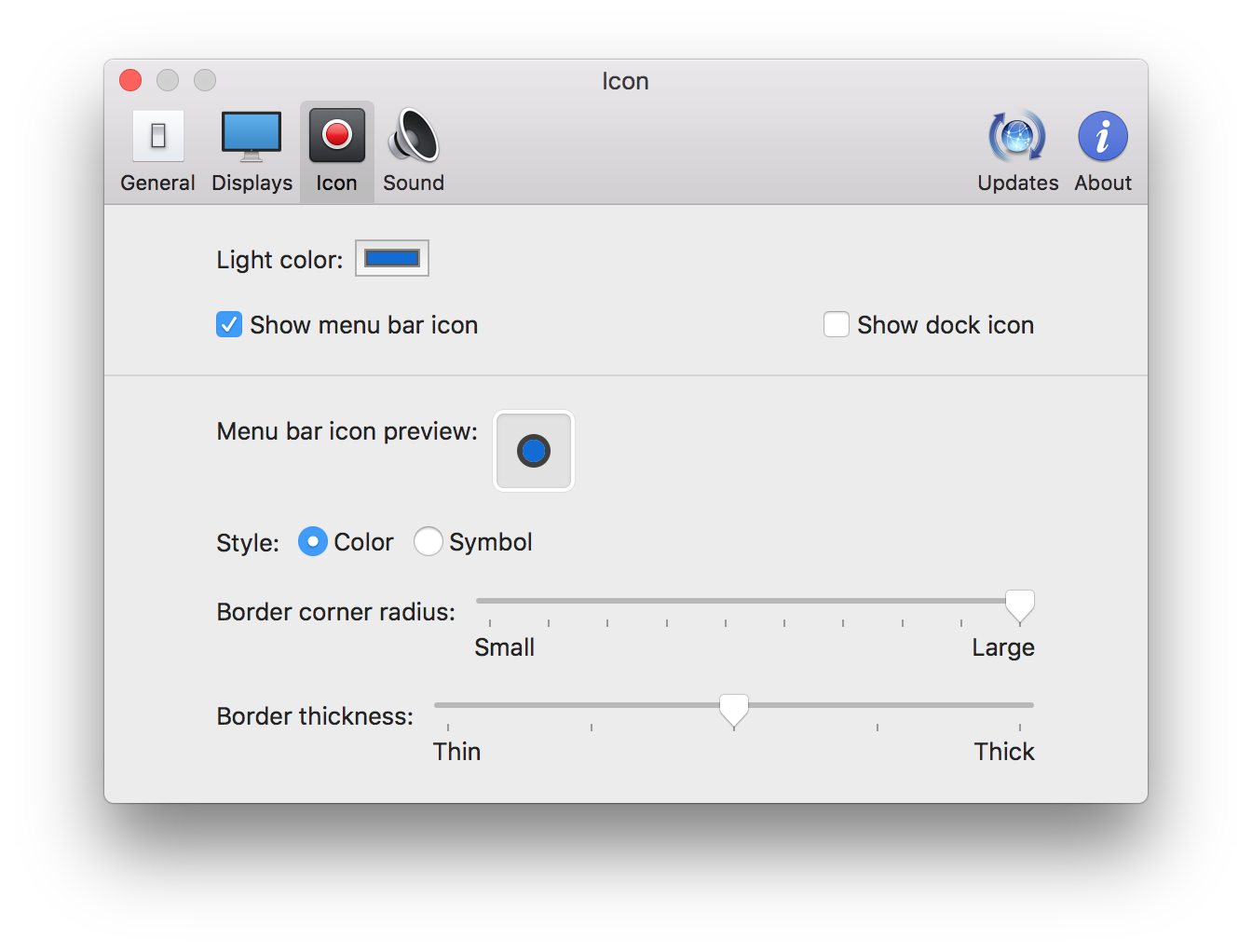 Captin 설정 부분 - Icon