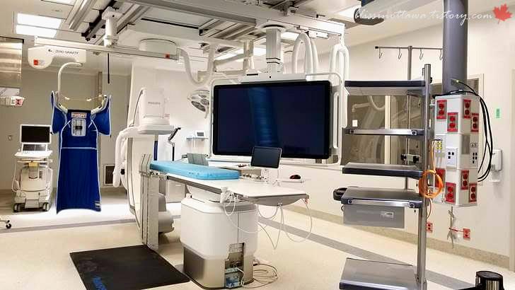 전기생리학 시술실입니다