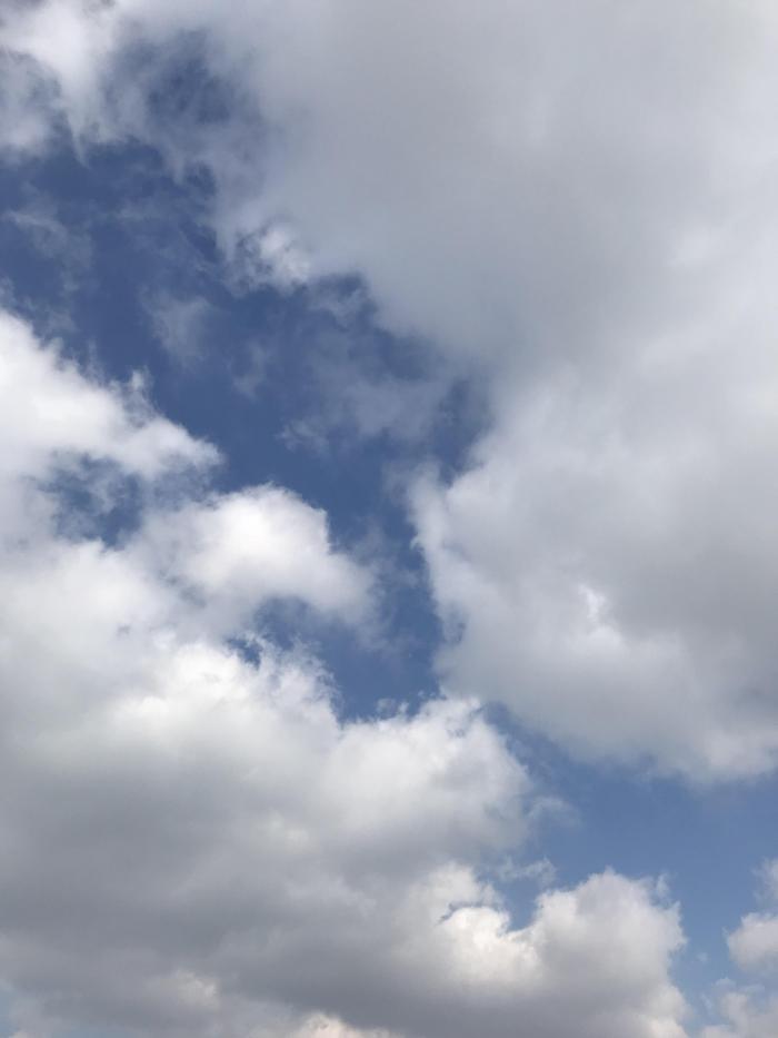 그리운 파란하늘과 신선한 공기