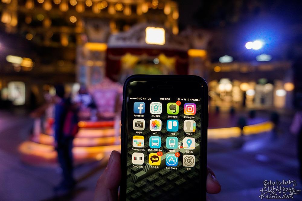 소니 a5100으로 촬영한 홍콩 야경. 스마트폰 아웃포커싱