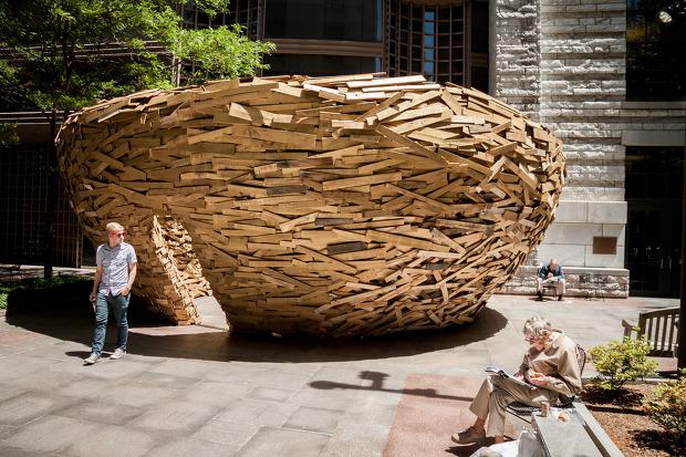 건축의 외형 - '새둥지' (Bird's Nest)