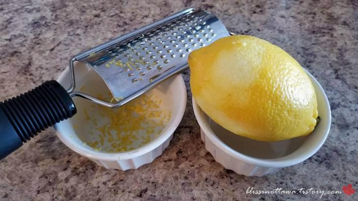 레몬 제스트 만드는법입니다