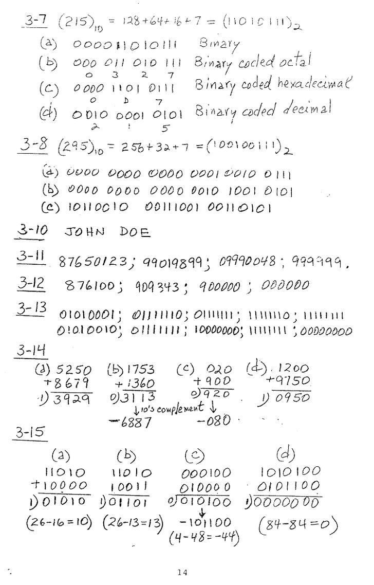 [모리스마노] 컴퓨터구조 연습문제 14p