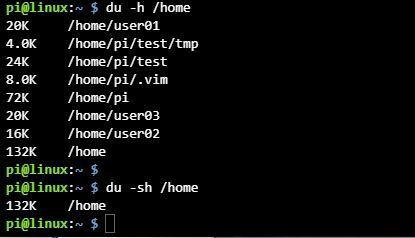 리눅스 du 명령어 옵션 사용법