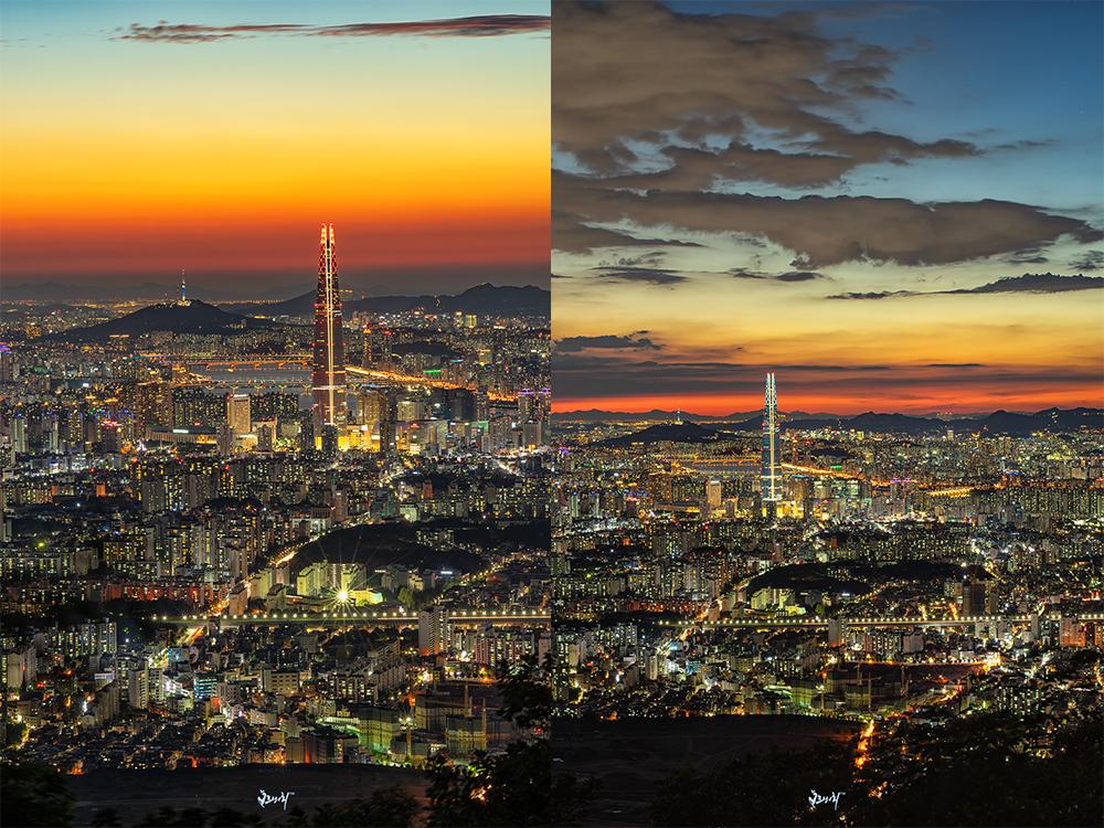 그저께 & 어저께 서울야경