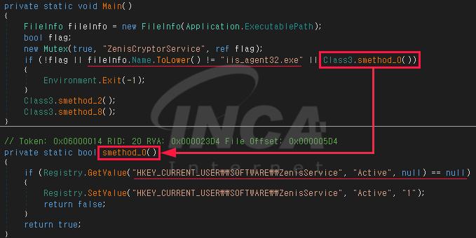 [그림 1] 중복 실행을 방지하기 위한 파일명 및 레지스트리 값 확인