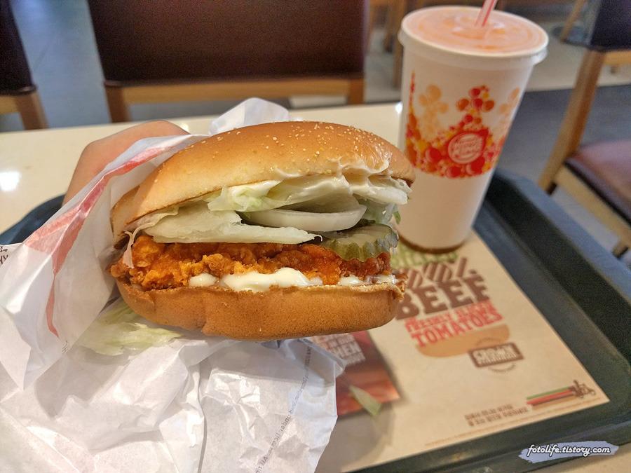 버거킹 신메뉴 <뉴올리언스 치킨버거> 먹어봤습니다!