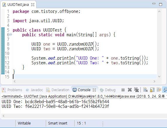 Java에서 UUID 클래스를 사용하여 유일한 식별자 생성하기