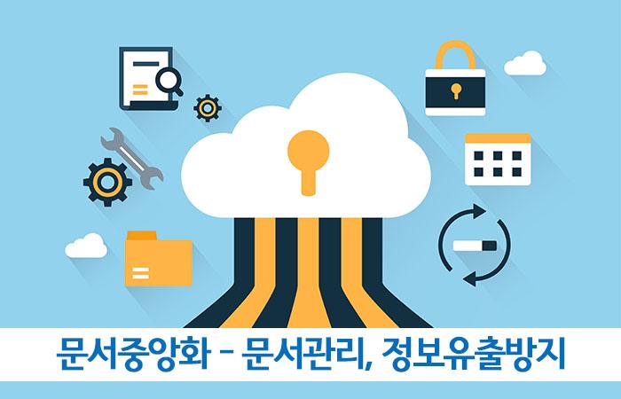 문서중앙화 솔루션 - 문서관리, 문서협업, 정보유출방지